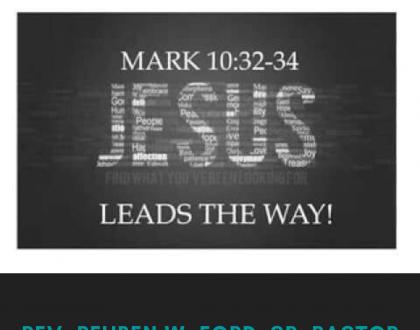 Jesus Leads The Way