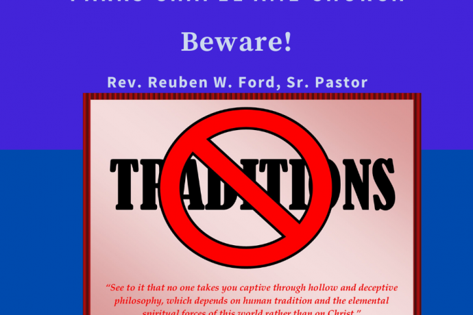 Beware of Traditions