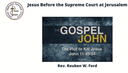 Jesus Before the Supreme Court at Jerusalem