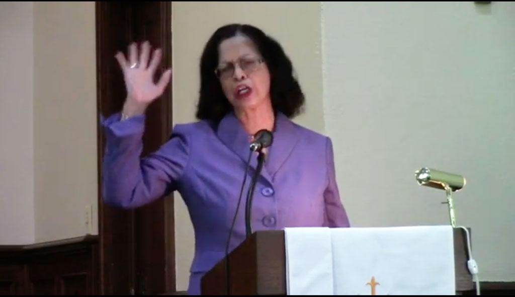 Sister Joyce praying 2