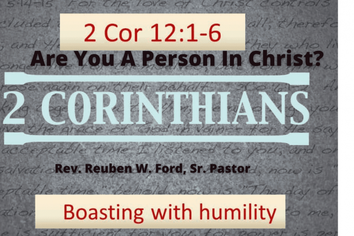 Are You A Person In Christ?