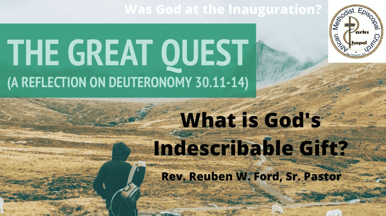 What is God's Inexpressible Gift?