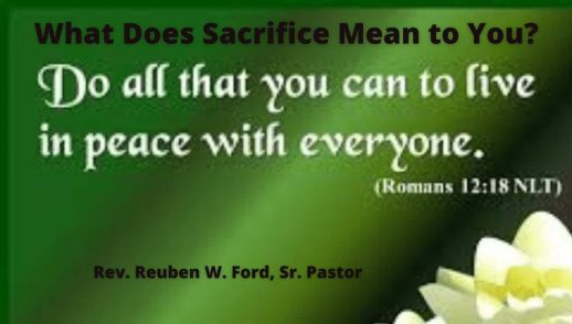 What Does Sacrifice Mean To You?