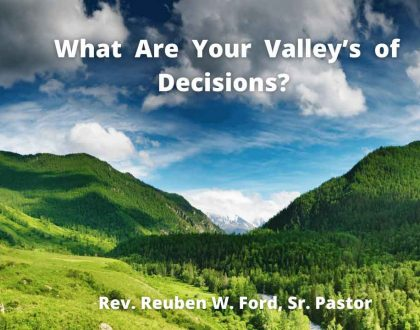What ARe Your Valleys of Decisions