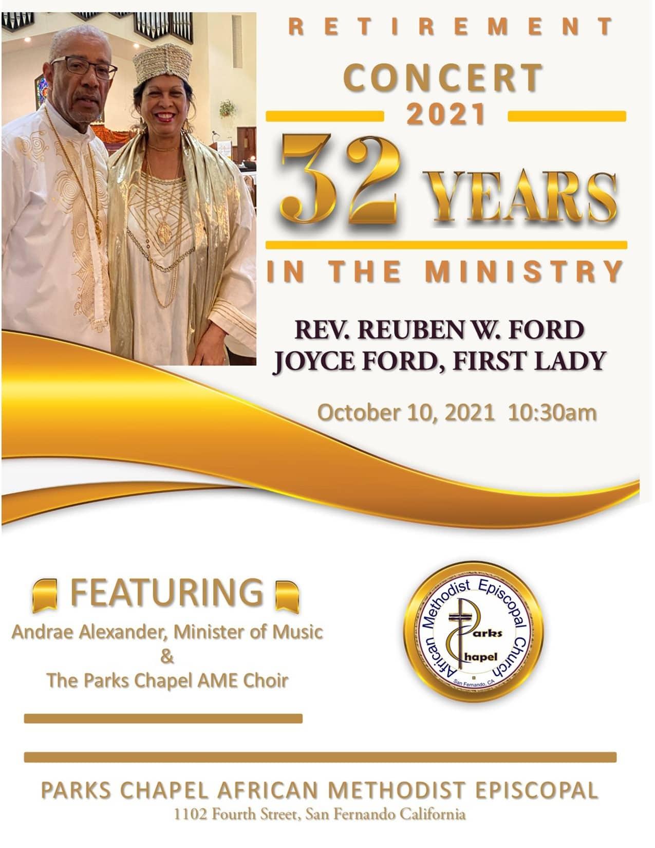 Reverend Reuben W. Ford Retirement Concert